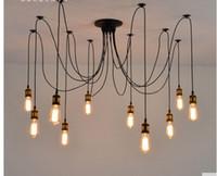 al por mayor arte deco ropa-Vintage tienda de ropa de café restaurante de la lámpara araña de la personalidad creativa Tiannvsanhua barra larga de la lámpara de araña