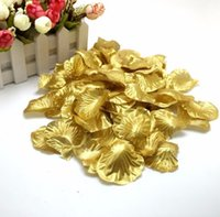Wholesale Hot Sales Gold and Silver Silk Rose Petals Favors Flower For Wedding Party Decoration And Romantic Birthday Decoration