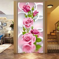 Wholesale 5D Needlework Diy Diamond Painting Cross Stitch Pink Rose Diamond Embroidery Flower Vertical Print round Drill Home Decor