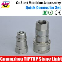 Wholesale Co2 Jet Machine Quick Connector Silver Color Male Female Aluminum Head Cheap Price Co2 Jet Accessory Spare Parts TIPTOP Stage Lights