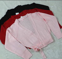 ballet shrug - Girl Ballet Dance Low Collar Cardigan Women Short Multi purpose Gymnastic Knitwear Sweaters Shrug wdq074