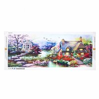 Wholesale Excellent DIY D Diamond Landscapes Garden Lodge Full Painting CrossStitch Kits Diamonds Embroidery Painting Handmade Gift Decor