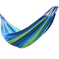 Wholesale Double Wide Hammock Canvas Soft Woven Portable Bed Travel Camping Hammock for Backyard Porch Outdoor or Indoor with carry bag