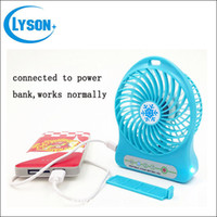 Wholesale Portable Mini USB Cooling Fan Rechargeable DC V for Desk Laptop Notebook Pocket Fan Battery mAh