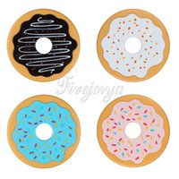 beer coasters - 4PCS Set Round Donut Coasters Multicolor Non Slip Drink Beer Beverage Coffee Cup Mats Silicone Placemat Coaster