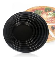 Wholesale 2016 all size pizza pan aluminum nonstick pizza pan process thicker ps pan non stick kitchen inch Large trumpet