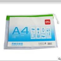 Wholesale Office supplies paper bags zipper bags mesh EDGE bags A4 kits