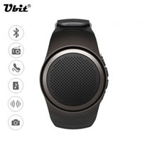 Wholesale Ubit B20 Smart Watch With Self timer Anti Lost Alarm Music Sport Mini Bluetooth Speaker Support TF Card FM Radio AUX Hands free