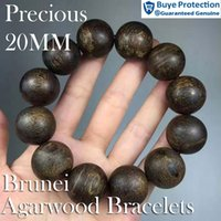 authentic decor - 20mm g Top quality Authentic wild Brunei Aloeswood oud sinking bead bracelet valued decor investment agardwood Eaglewood Gaharu jewelry