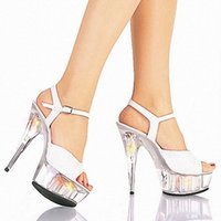 advertising and media - Summer new nightclub sandals sexy appeal super high heels Advertising fish mouth high heeled shoes