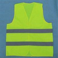Wholesale Car Motorcycle Reflective Safety Clothing High Visibility Safety Reflective Hi Viz Vest Warning Coat Reflect Stripes Tops Jacket