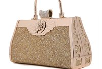 applique clutch - Women Scrubs elegance Hard Shell Evening bag Handbags Clutches chain Diamonds Handbag Gold Bridal bag Clutch European style women Handbag