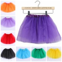 Wholesale Baby Tutu Fancy Skirt Pettiskirt Ballet Skirts Princess Dance Party Tulle Skirt Dancewear Dancing Costume Fluffy Chiffon Dressup Skirts D46