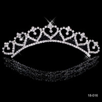 Wholesale Most Popular Alloy Shining Crowns Wedding Bride Tiaras Rhinestone Fashion Cheap Crowns For Bride Prom Evening