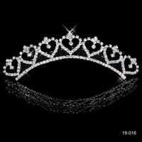 Wholesale Most Popular Alloy Shining Crowns Wedding Bride Tiaras Rhinestone Fashion Cheap Crowns For Bride Prom Evening