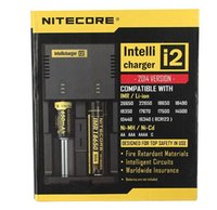 Wholesale 100 Original Genuine Nitecore I2 Universal Charger for Battery in Muliti Function Intellicharger DHL Free