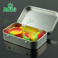 Wholesale Vape smoking oil wax storege boxes dab tool kit in silicone container DHL free ship S