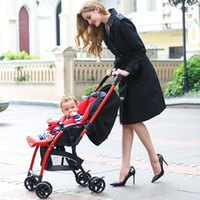 Wholesale Baby stroller portable two way shock years four wheel cart flat can sit baby stroller and general