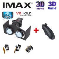 Wholesale Brand New VR Fold Portable Foldable Ultralight D VR Virtual Reality VR BOX Google Cardboard Glasses Bluetooth Wireless Gamepad
