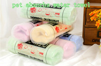 Wholesale Pet PVA Absorbent Towel Dog Shower Towel Pet Super Absorbent Towels With Bucket Package Dog Supplies