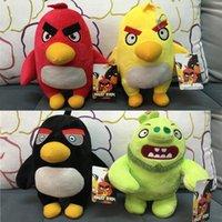 big bird movies - Cute Angry Birds Plush Toys CM Cartoon Stuffed Soft Toys Angry Birds Toy For Kids Movie Angry Bird Figure Dolls Xmas Gift YC8084