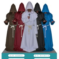 apparel canvas - The medieval monks monks robe Halloween wizard priest christians church the priest apparel cosplay for men and women