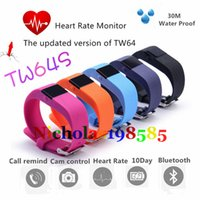 Wholesale TW64S PK TW64 Fitbit Flex Smart band Charge HR Activity Wristband Wireless Heart Rate Monitor Pulse OLED Display Sport Smart Band Bracelet