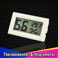 Wholesale Mini in LCD Digital Temperature Tester Wireless Embedded Thermometer Hygrometer Humidity Meter Measure Indoor Gauge