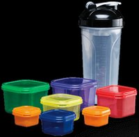 Wholesale 21day fix food portion container shakenology cup resistance band