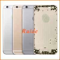 aluminum screen panels - For iPhone S Back Cover Housing Middle Frame Bezel Chassis Aluminum Metal Battery Door Cover For iPhone S free shopping DHL EMS