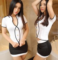 airlines clubs - Sexy lingerie club service high end airline stewardess transparent suit pajamas lmmwqqsc