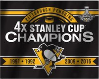 Wholesale Pittsburgh Penguins Flag Time Stanley Cup Champion Flag x5 FT X90CM Banner brass metal holes PC3