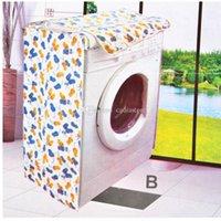 Wholesale Elegant Waterproof Floral Washing Machine Dust Guard Cover B Type E00309 SPDH
