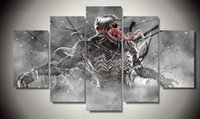 Wholesale Framed Printed venom marvel comics Painting children s room decor print poster picture canvas F