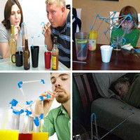 Wholesale Flexible DIY Connectible Sucking Straws Tubes Puzzle Toy For Fun Party Drinks