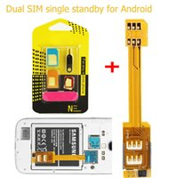 Wholesale Dual SIM Card Adapter in SIM Card Adapter for Samsung Galaxy S5 G900 S4 i9500 S3 i9300 Note N9000