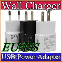 Wholesale 100pcs OEM For Samsung Galaxy S4 i9500 S2 S3 Note Home EU US Wall Charger Adapter V A DD9