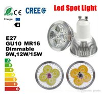Wholesale Dimmable CREE Led Lamp Led Spotlights W W W Bulbs High Power MR16 E27 E14 GU5 B22 Led Light for Indoor