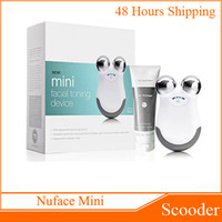 Wholesale Nuface Mini Facial Toning Device Electric Face Massager VS Nuface Trinity PRO Newest Pink White Also Have Facial Cleansing Brushes