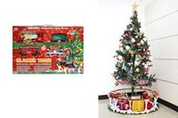 battery christmas train - 2016 Christmas Electric Light Music Track Train Toy contains pieces