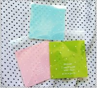 Wholesale 50pcs cookie packaging bags colors candy bags bread bags self adhesive plastic bag x10 cm