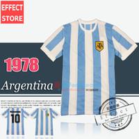 Retro Version 1978 1986 Copa del Mundo Argentina equipo nacional Camiseta de fútbol 10 Messi Maradona CANIGGIA Top Tailandia Quality Football Shirts