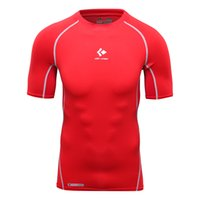 compression shirt - Sports Tshirt Mens Compression Fitness Breathable Tee Shirts Aerobic Exercise Short Sleeve T shirt Muscle Shirts for Men Gym Clothing