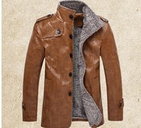 bicycle leather coat - Leather Suede Man riding a bicycle motorcycle leather jacket men windproof PU leather jackets and coats fashion parkas