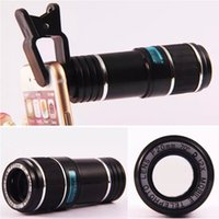 Wholesale Universal x Zoom Optical Lens Mobile Phone Telescope Camera Lens For iPhone for Samsung Clip Eightfold Magnifier with Holder