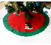 al por mayor santa de la navidad de la vendimia-Christmas Santa Tree Falda Snowman Christmas Tree Tree Faldas Vintage No-tejido Festive Party Xmas Tree Falda Decoraciones de Navidad