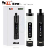 Chambre à cire sèche à l'herbe France-Authentique Yocan iShred Dry Herbal Vaporizer Kit 2600mAh Batterie Céramique pleine Chambre cire sèche Herb vapor vape stylo LCD Display e Cigarette DHL