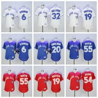 Wholesale Toronto Blue Jays Elite Baseball Jerseys Jose Bautista Josh Donaldson Troy Tulowitzki Kevin Pillar Stitched Baseball Jerseys