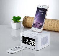 alarm clock radio for iphone - Bluetooth Radio Alarm Clock Speaker System for iphone ipod ipad