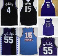 Wholesale Drop Shipping Peja Stojakovic Jersey Black White Purple Black Jason Williams Jersey Stitched Top Quality Chris Webber DeMarcu